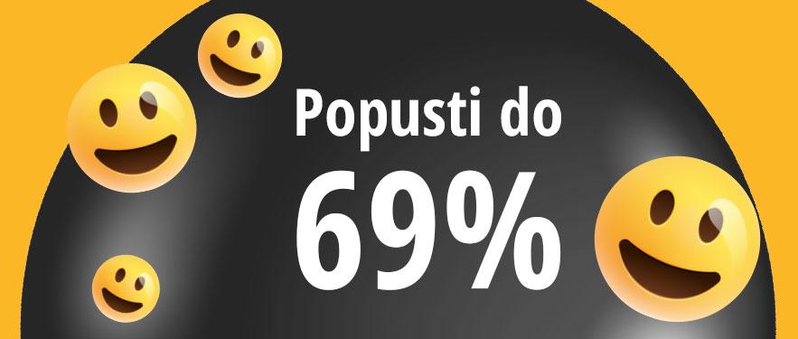 Srećni dani uz popuste do 69%